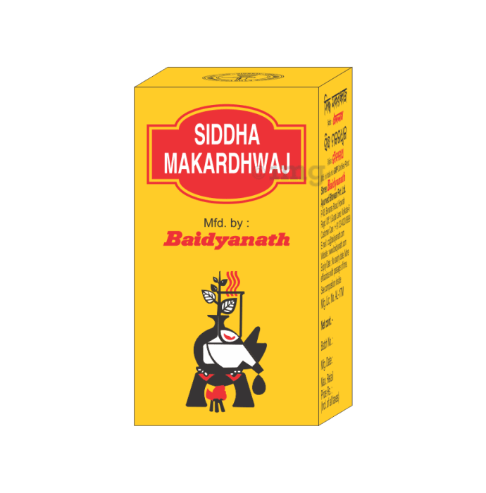 Baidyanath Makardhwaj Gutika Tablet (with Gold)