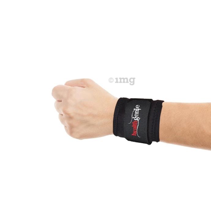 Healthgenie One Size Adjustable Wrist Support Black