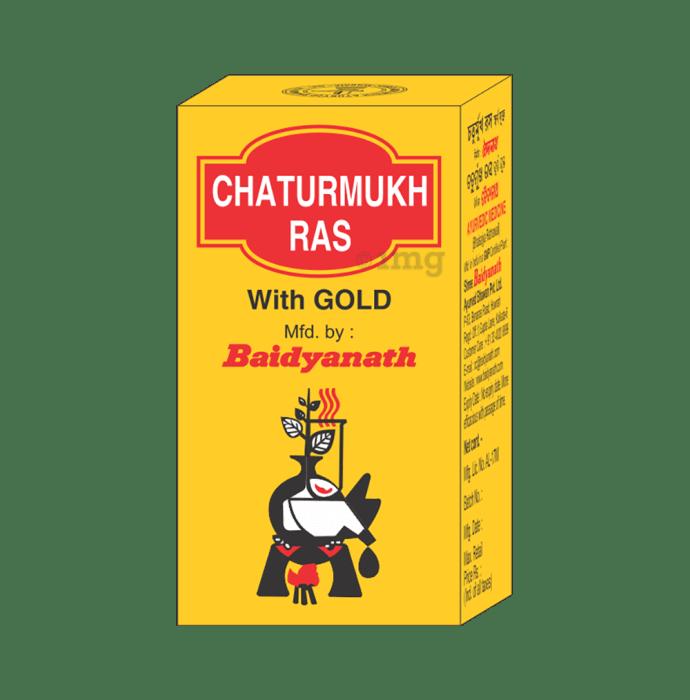Baidyanath Chaturmukh Ras with Gold Tablet