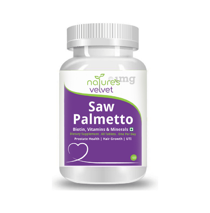 Nature's Velvet Saw Palmetto with Biotin, Vitamins & Minerals Tablet