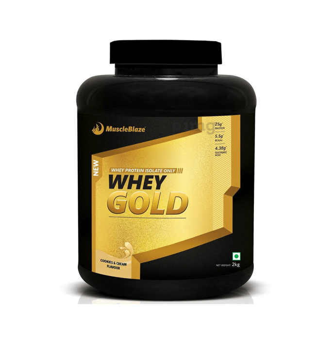 MuscleBlaze Whey Gold Whey Protein Isolate Cookies & Cream