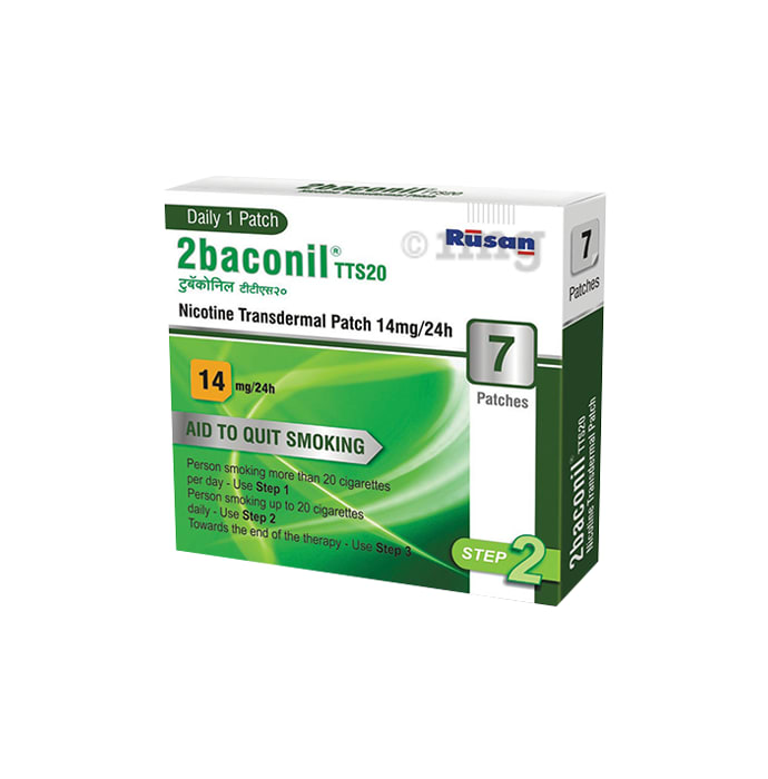 2baconil 14mg Nicotine Transdermal Patch Step 2