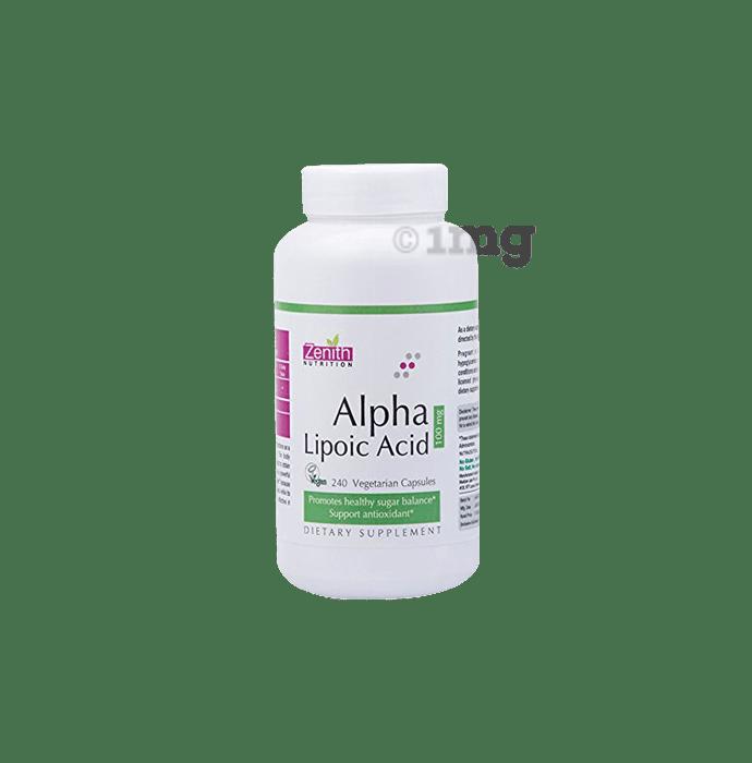 Zenith Nutrition Alpha Lipoic Acid 100mg Capsule