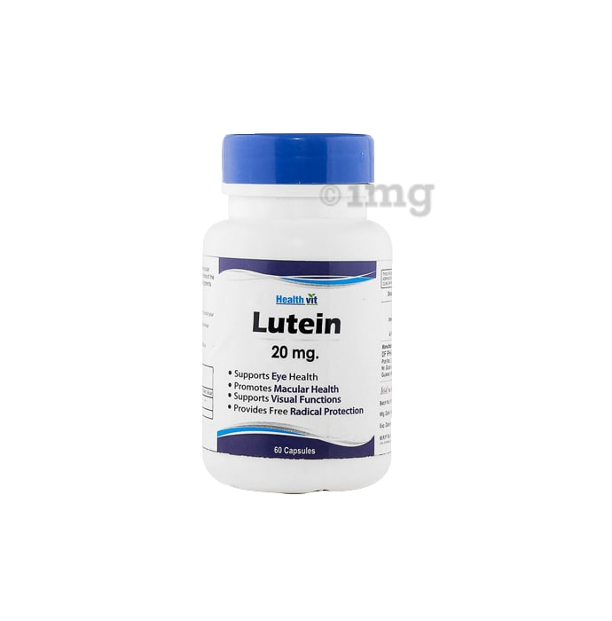 HealthVit Lutein 20mg Capsules Nutrition for Eye