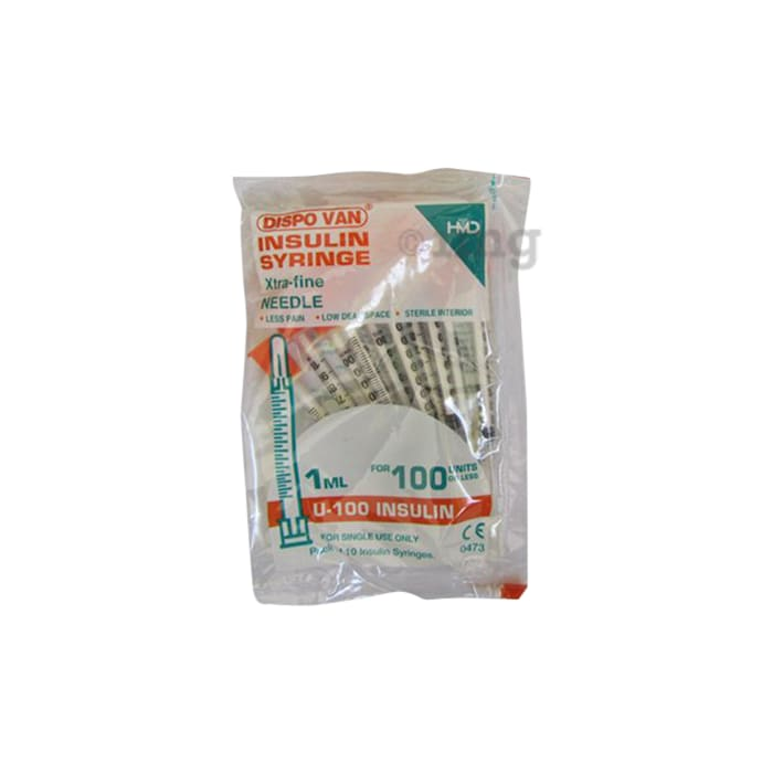Dispovan U-100 Insulin Syringe Unitpack