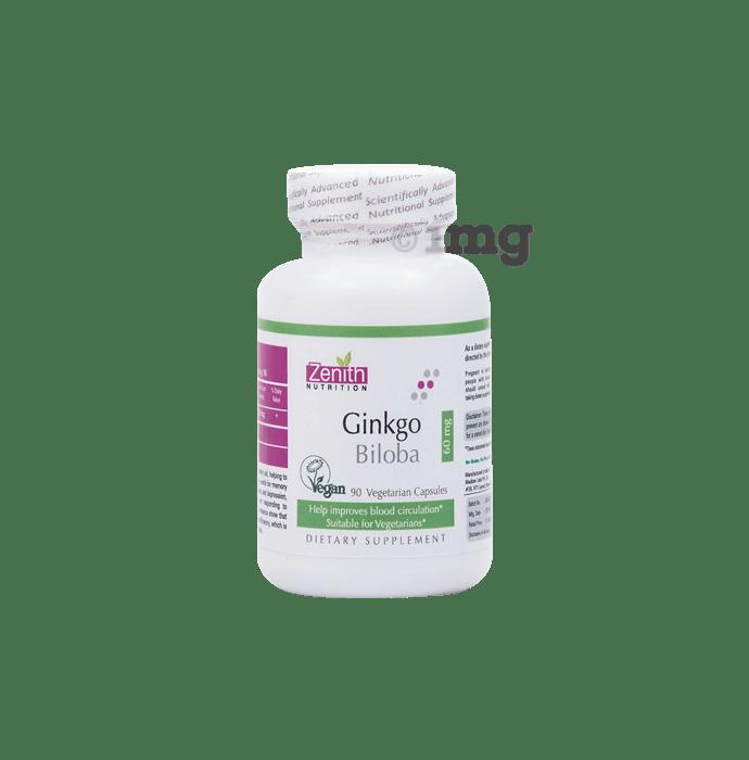 Zenith Nutrition Ginkgo Biloba 60mg Capsule
