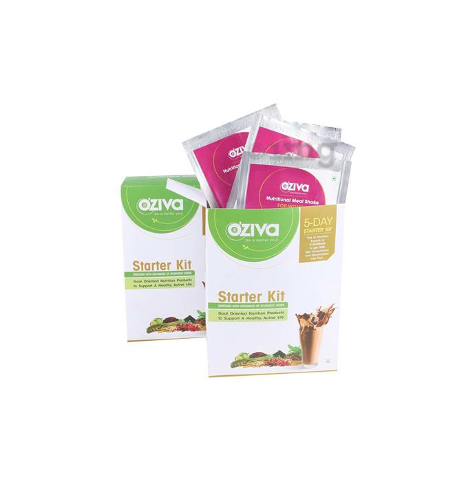Oziva Nutritional Meal Shake (Meal Replacement) for Women 5 Day Starter Kit