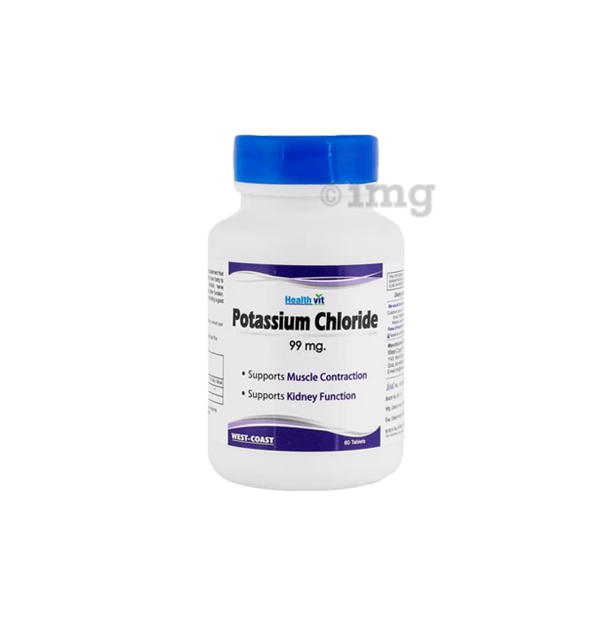 HealthVit Potassium Chloride 99mg Tablet