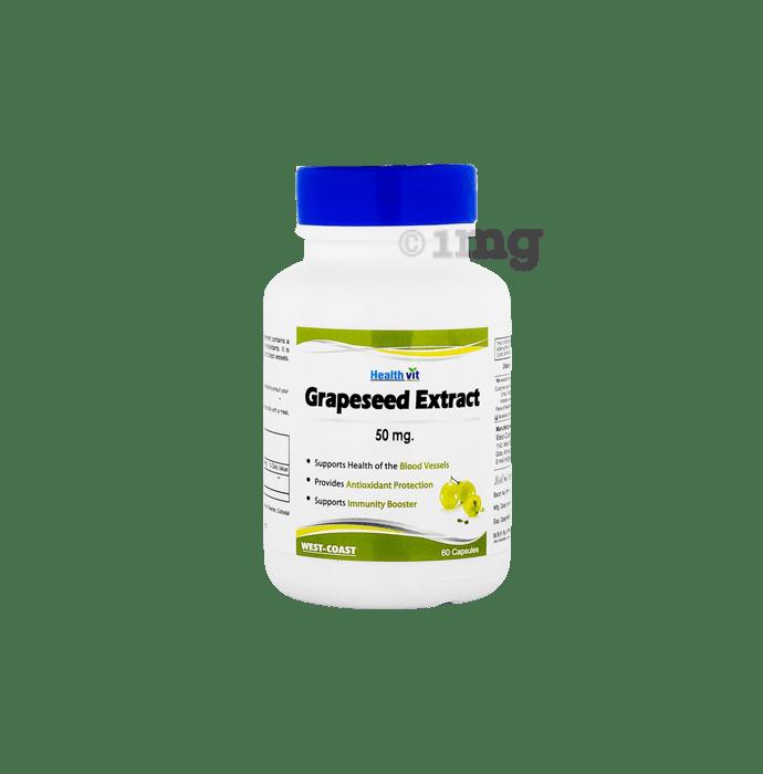 HealthVit Grape Seed 50mg  Capsule