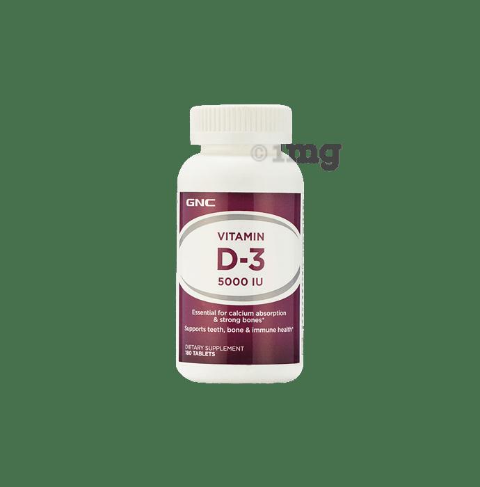 GNC Tablet Vitamin D3 5000 IU
