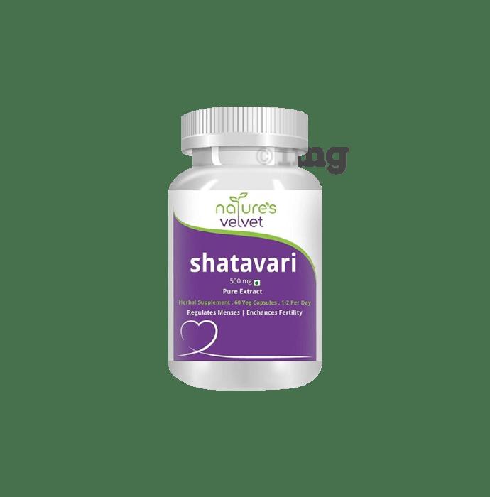 Nature's Velvet Shatavari Pure Extract 500mg Capsule