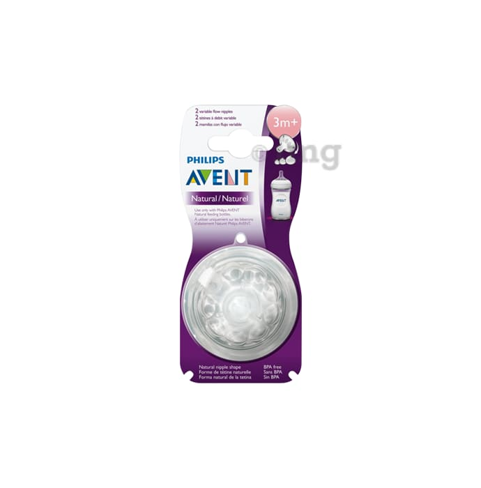 Philips Avent Natural Teat One Slot Variable Flow 3m+