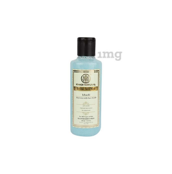 Khadi Naturals Ayurvedic Face Wash Aloevera with Scrub SLS & Paraben Free