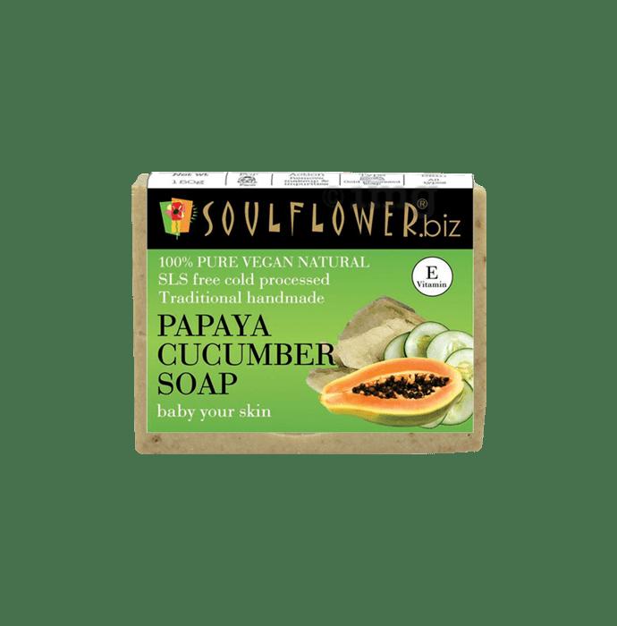 Soulflower Papaya Cucumber Soap