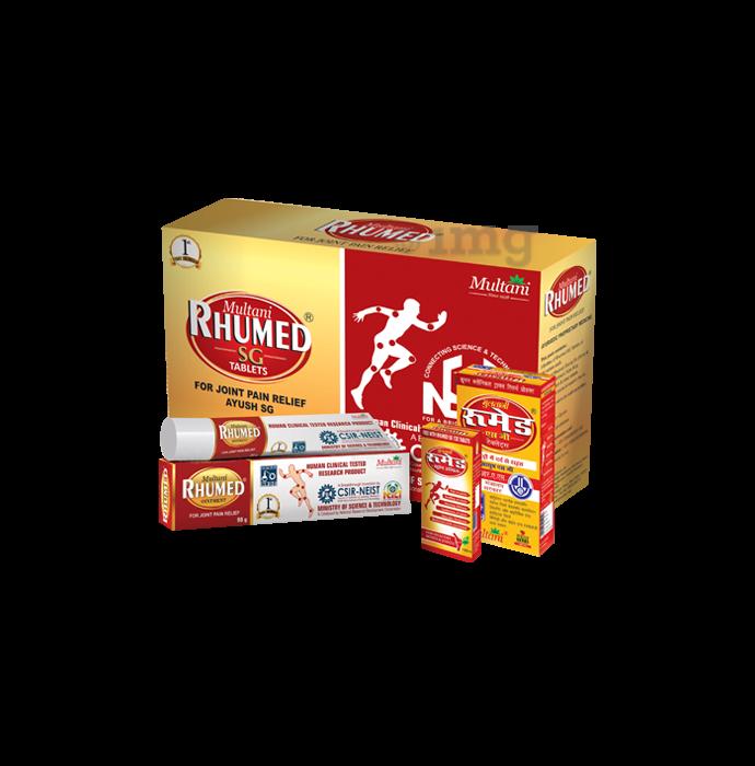Multani Rhumed SG Kit (Rhumed SG 540 Tablets, Rhumed Strong Oil 90ml & Rhumed SG Ointment 90gm)