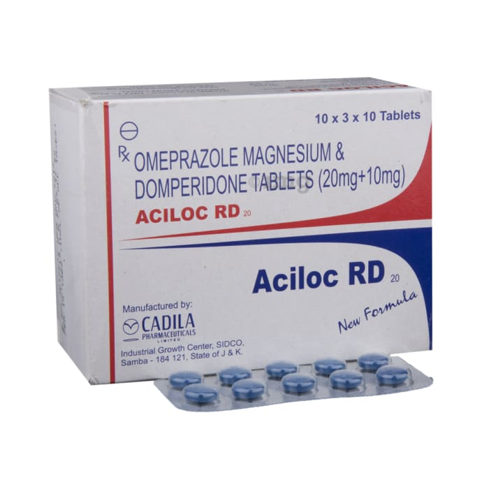 Aciloc RD 20 Tablet: View Uses, Side Effects, Price and Substitutes | 1mg
