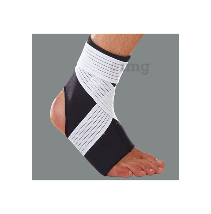 LP 728 Neoprene Ankle Support with Strap XL Black