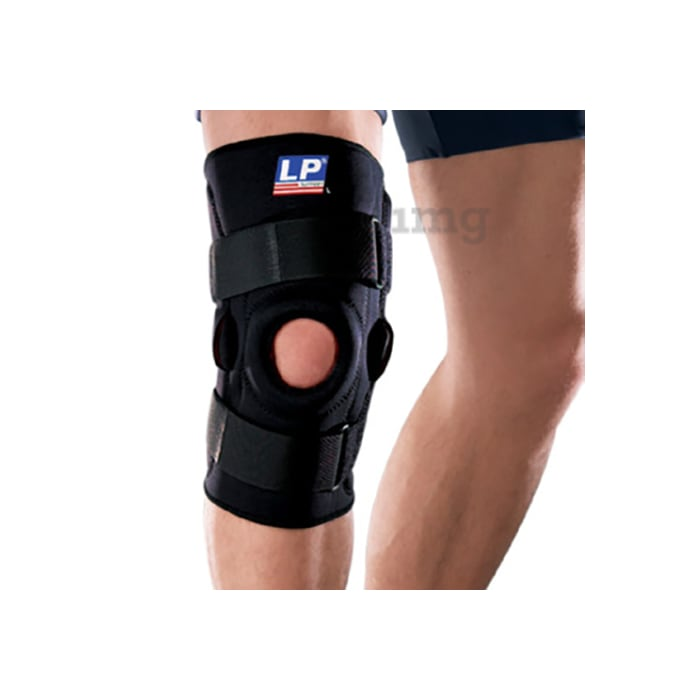 LP 710 Hinged Knee Support Single S Black