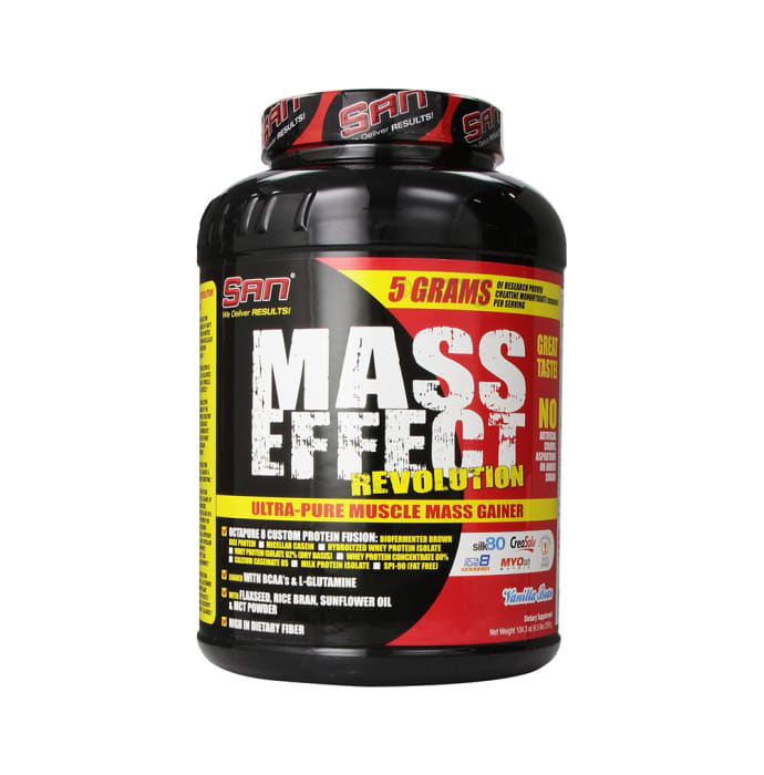 SAN Mass Effect Revolution Mass Gainer Powder Vanilla Bean