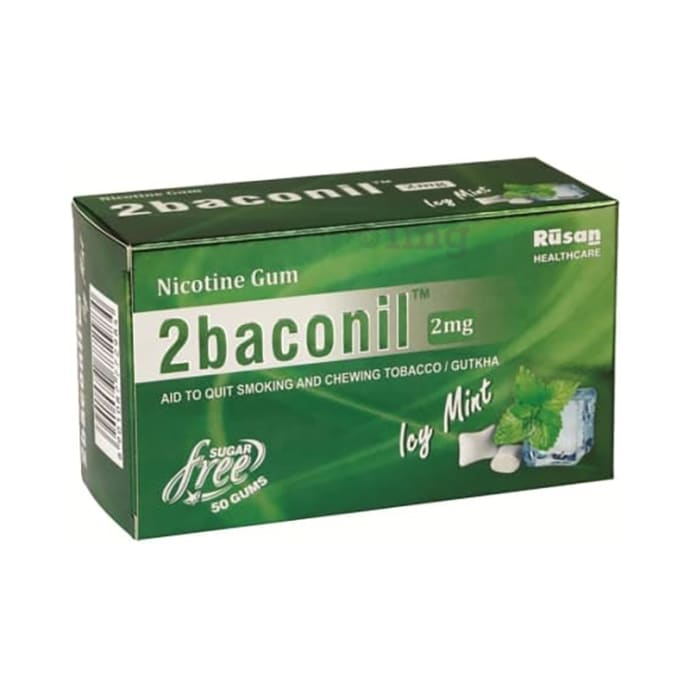 2baconil 2mg Nicotine Gum Ice Mint Sugar Free