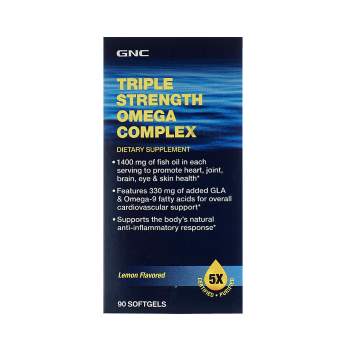 GNC Triple Strength Omega Complex Soft Gelatin Capsule Lemon
