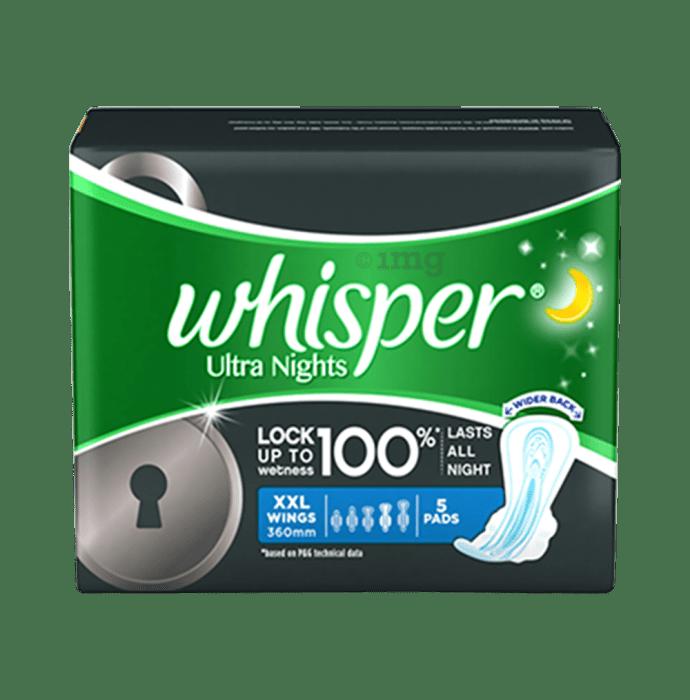 Whisper Ultra Nights Wings Sanitary Pads XXL