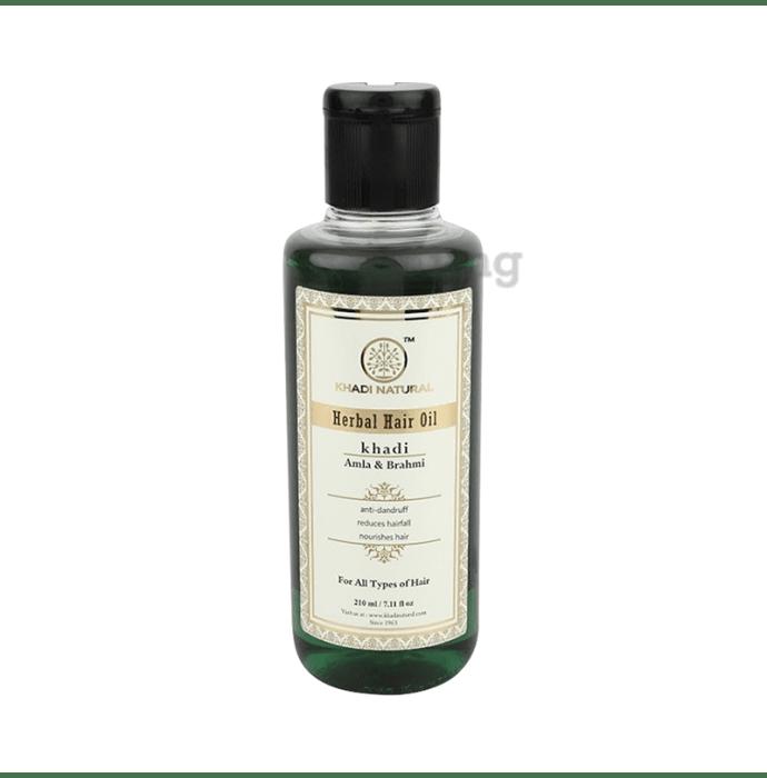 Khadi Naturals Ayurvedic Amla & Brahmi Hair Oil