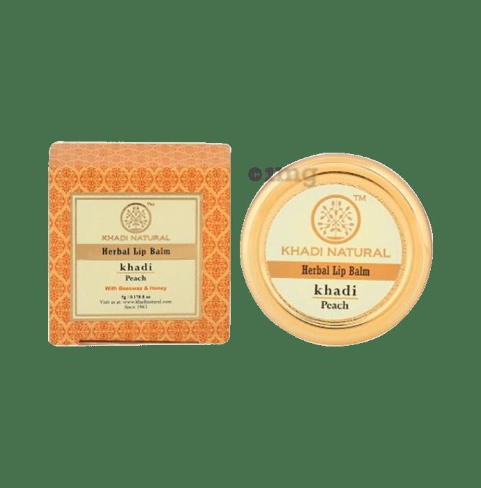 Khadi Naturals Herbal Lip Balm Peach