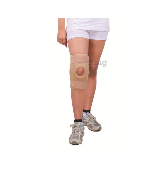 Wellon Dynamic Knee Support Hinged- Open Patella 12 Inches KS-05 S