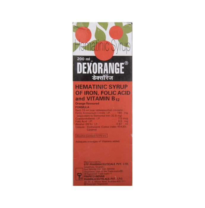 Dexorange Syrup: Buy bottle of 200 ml Syrup at best price in India | 1mg