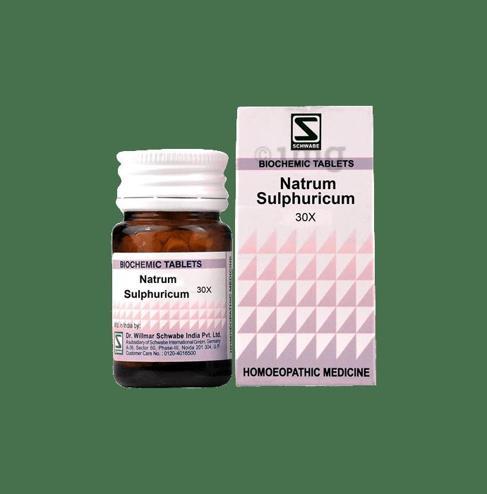 Dr Willmar Schwabe India Natrum Sulphuricum Biochemic Tablet 30X
