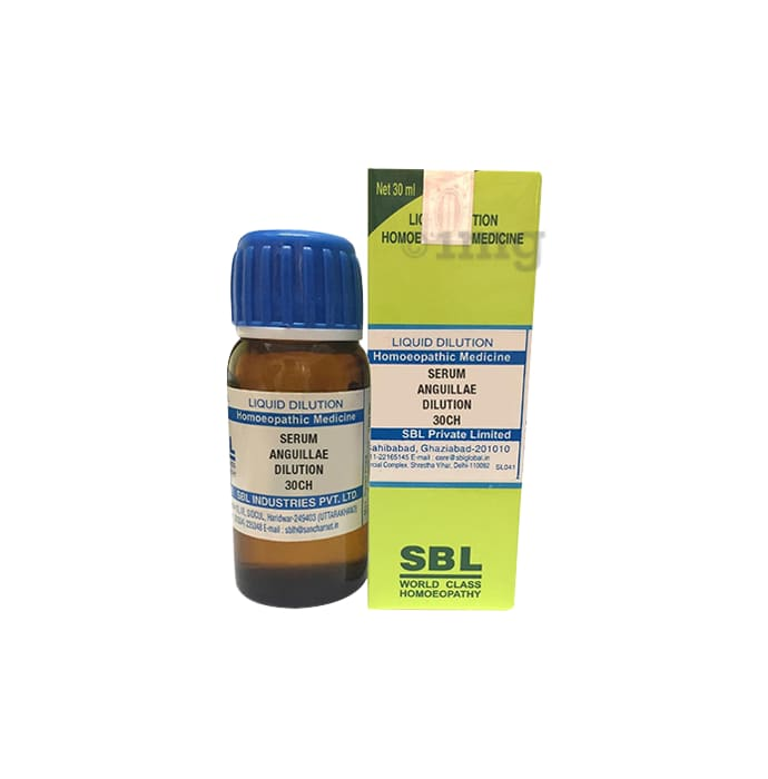 Sbl Serum Anguillae Eel Serum Dilution 30 Ch Buy Bottle Of 30 Ml Dilution At Best Price In India 1mg