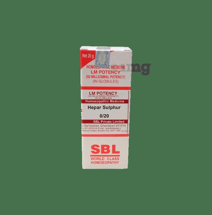 SBL Hepar Sulphur 0/20 LM
