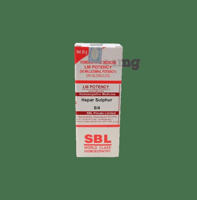 SBL Hepar Sulphur 0/4 LM