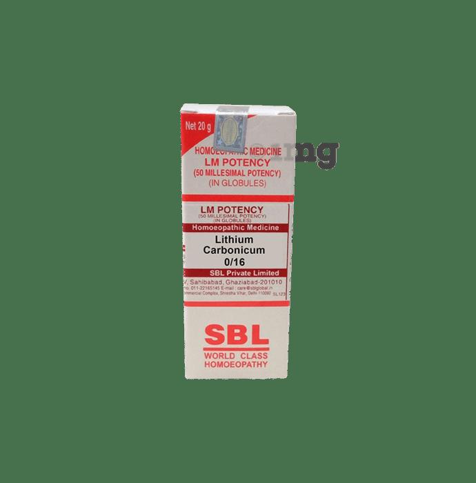 SBL Lithium Carbonicum 0/16 LM