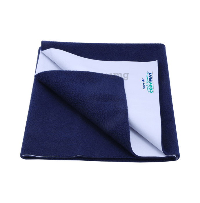 Newnik Cozymat, Dry Sheet (Size: 140cm X 220cm) Single Bed Navy Blue