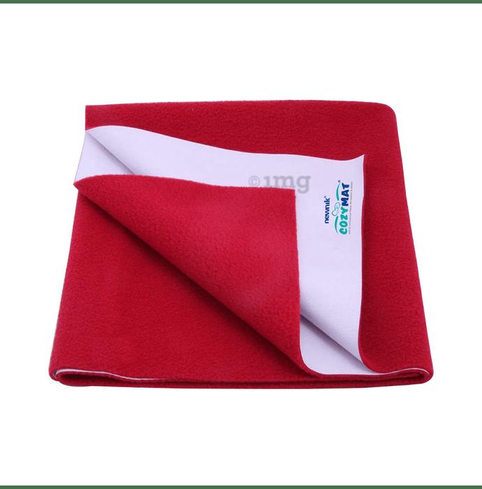 Newnik Cozymat, Dry Sheet (Size: 70cm X 100cm) Medium Maroon