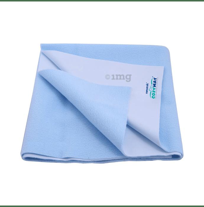 Newnik Cozymat, Dry Sheet (Size: 70cm X 100cm) Medium Sky Blue