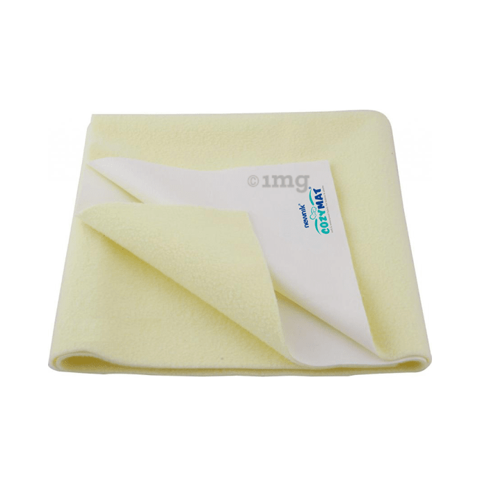 Newnik Cozymat, Dry Sheet (Size: 70cm X 100cm) Medium Yellow