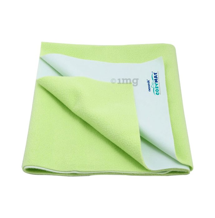 Newnik Cozymat, Dry Sheet, (Size: 70cm X 50cm) Small Lemon Green