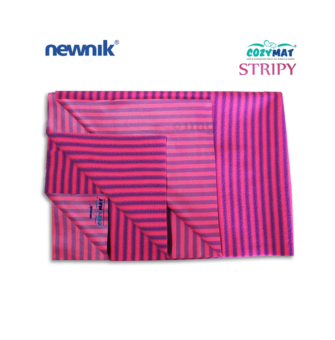 Newnik Cozymat Stripy Soft (Narrow Stripes) (Size: 140cm X 200cm) Extra Large Flamingo