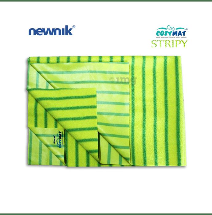 Newnik Cozymat Stripy Soft (Broad Stripes),(Size: 50cm X 70cm) Small Green Apple