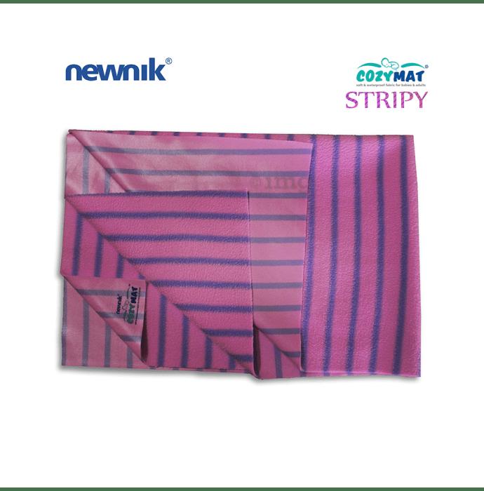 Newnik Cozymat Stripy Soft (Broad Stripes) (Size: 100cm X 140cm) Large Lavender