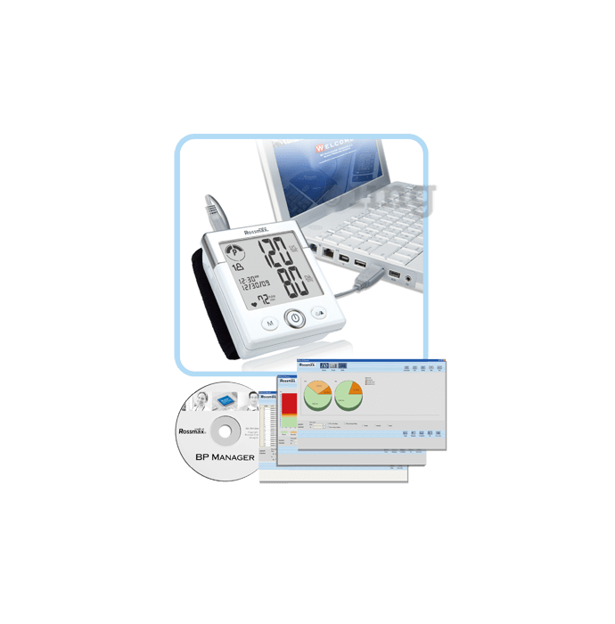 Rossmax Blood Pressure Manager (USB Cable and Software Download Instruction)