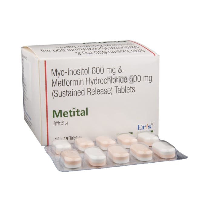 Metital Tablet SR: View Uses, Side Effects, Price and Substitutes | 1mg