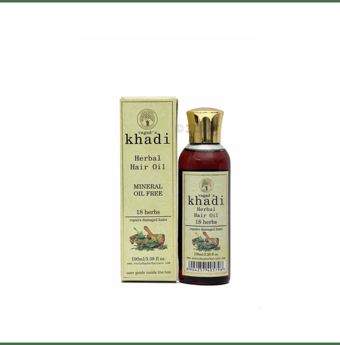 Vagad's Khadi 18 Herbs Mineral Free Hair Oil