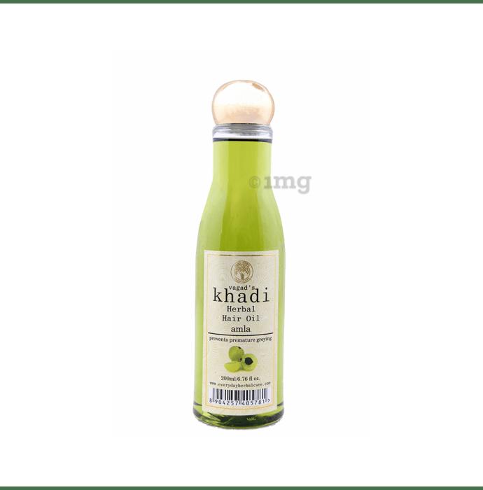 Vagad's Khadi Amla Herbal Hair Oil