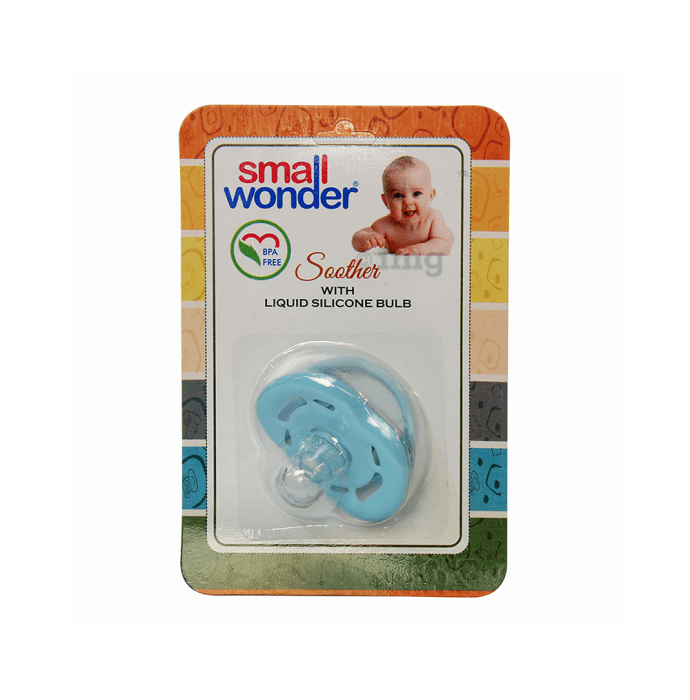 Small Wonder Liquid Silicone Soother Blue