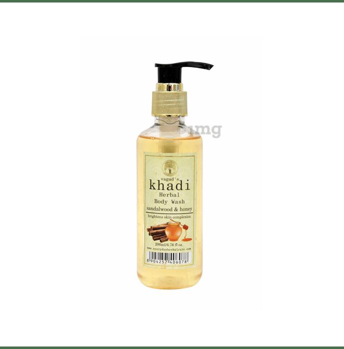 Vagad's Khadi Sandalwood & Honey Herbal Body Wash