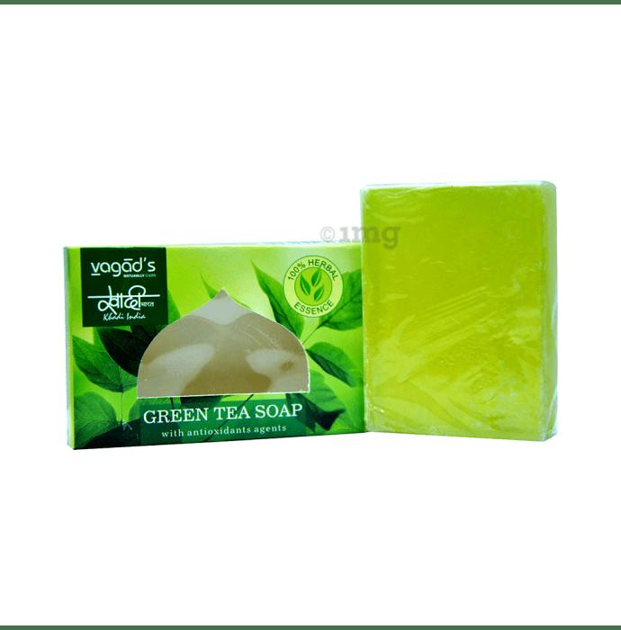 Vagad's Khadi Herbal Green Tea with Antioxidant Agents Soap